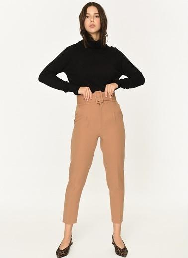 Loves You Yüksek Bel Duble Paça Havuç Pantolon Camel